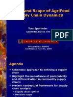 Nature and Scope of AgriFood Supply Chain Dynamics