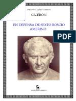 En Defensa de Sexto Roscio Amerino (Bilingue)