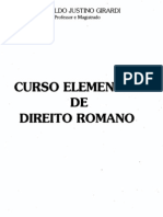 Curso Elementar de Direito Romano - Leopoldo Justino Girardi