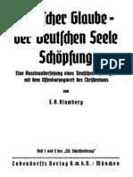 Blumberg, F. a. - Deutscher Glaube - Der Deutschen Seele Schoepfung (1935, 45 S., Scan-Text, Fraktur)