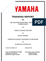 Industrial Training Report (training at Yamaha Motors) by Vikas Nagar