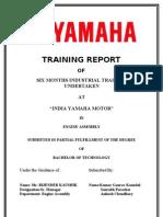Industrial Training Report (training at Yamaha Motors) by Vikas Nagar