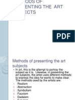 Methods of Presenting the Art Subjects