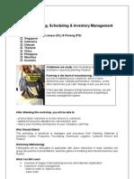 Capacity Planning, Scheduling & Inventory Management Training Workshop