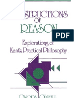 Onora o'Neill - Constructions of Reason - Explorations of Kant's Practical Philosophy)