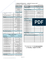 """Recommendations for Primary and """"All Voters"""" Election, Aug 14, 2012, Miami-Dade County"""