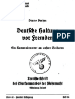 Brehm, Bruno - Deutsche Haltung Vor Fremden - Ein Kameradenwort an Unsere Soldaten (1941, 32 S., Scan, Fraktur)