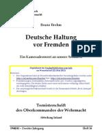 Brehm, Bruno - Deutsche Haltung Vor Fremden - Ein Kameradenwort an Unsere Soldaten (1941, 32 S., Text)