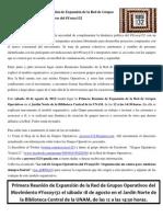 Invitación a la Primera Reunión de Expansión de los Grupos Operativos del #Yosoy132