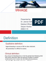 Postpartum Haemorrhage, Dr Jeevan
