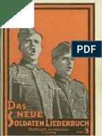 Breuer, Franz - Das Neue Soldaten-Liederbuch - Band 3 (66 S., Scan, Fraktur)