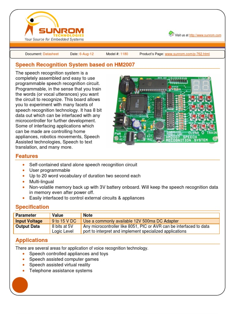 hm2007 based speech recognition speech recognition integrated