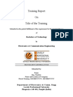 1873 2 Training Report Format ECE