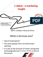 India's Formula one  debut