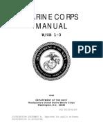 Marine Corps Manual w Ch 1-3