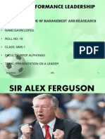 High Performance Leadership.pptx Sir Alex Ferguson