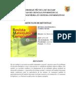 FASE 5. ARTICULOS DE REVISTAS PROFESIONALES