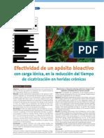 Efectividad de un apósito bioactivo
