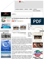 La Terminal Renueva Su Sitio Web · 7 en Punto