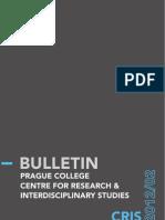 CRIS Bulletin 2012/02