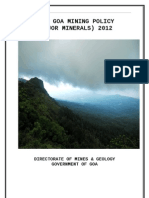 Goa Mining Policy