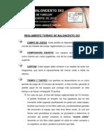 Reglamento Torneo de Baloncesto 3x3