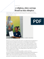 Estudiosa e religiosa, Joice carrega sozinha o Brasil na luta olímpica