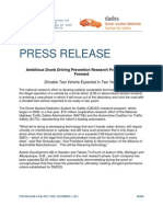 DADSS Phase II Ambitious Drunk Driving Prevention Research Program Moves Forward 11-01-2011