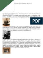 Historia Del Procesador de Textos