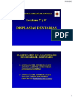 Leccion 7 y 8. Displasias Dentarias