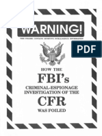 How the FBIs Criminal Espionage Investigation of the CFR Was Foiled