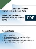 1a. aula - Gestão de Projetos