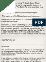 Technique in Carver