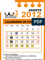 Calendário a partir de agosto