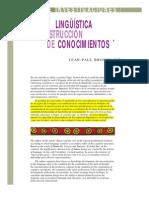 Actividad lingüistica y construcción de conocimientos- Jean-Paul Bronckart