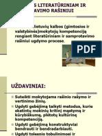 LITERATŪRINIS RAŠINYS. 2