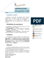 Social-ONE Brasil - INFORMAÇÕES IMPORTANTES