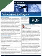 Business Analytics Program