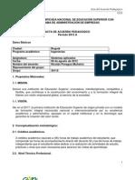 Formato Acta de Acuerdo Pedagogico Sistemas 30146