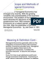 Chapter One of Managerial Economics
