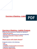 Overview of Banking-Liability Products