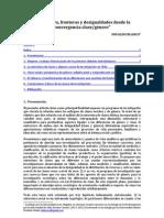 Estructura, fronteras y desigualdades desde la convergencia clase/género