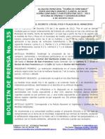 Boletin de Prensa 135