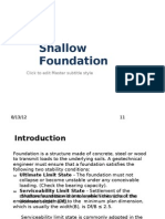 (E)Chapter 1 - Shallow Foundation