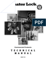 Master Lock - Commercial Products TECHNICAL MANUAL - IsSUE 7.05