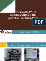Estrategias Para La Resolucion de Conflictos Sociales