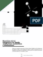3cap 11 Reacciones de Los Halogenuros de Alquilo, Sustituciones Nucleofilicas y Eliminaciones