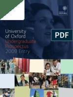 Undergraduate Prospectus Oxford