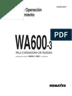 Manual Komatsu Cargador Frontal Wa 600 3