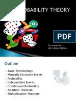 Probability Theory Dr. Nisha